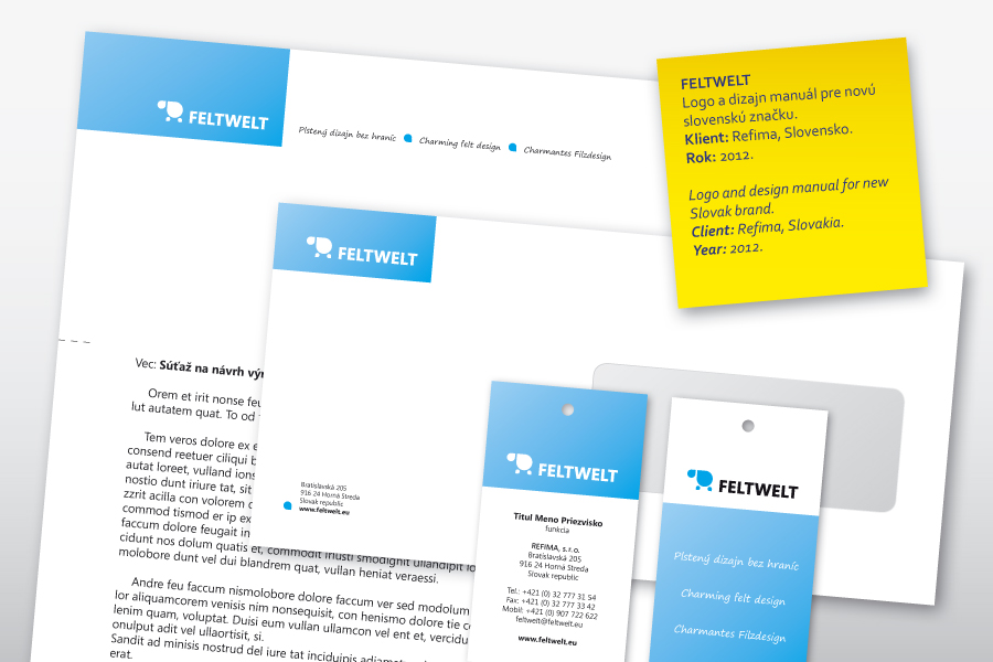feltwelt logo and design manual